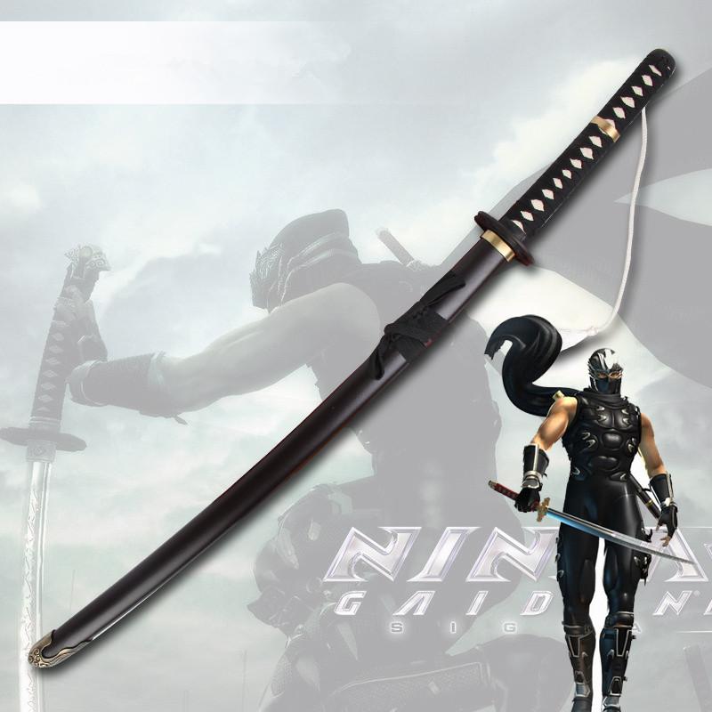 Cosplay Ninja Gaiden Katana Ryu Hayabusa Japanese Sword Unsharpened