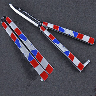 "Practice Butterfly Knife ""Captain America"""